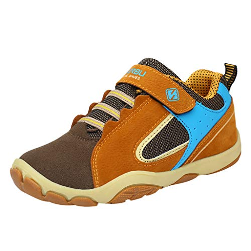 Sllowwa Babyschuhe Jungen Mädchen Baby Unisex Kinder Lauflernschuhe Krabbelschuhe Freizeitschuhe Atmungsaktive Turnschuhe Schuhe Sneaker(Braun,30)