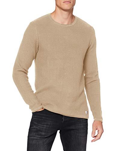 Jack & Jones Jprblucarlos Knit Crew Neck Noos Sweater, Crème, L Homme