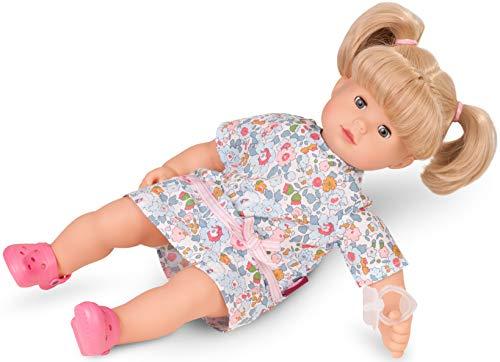 Götz 1727186 Maxy Muffin Summertime Puppe - Sommerzeit - 42 cm große Babypuppe mit blauen Schlafaugen, Blonde Haare und Weichkörper - 6-teiliges Set