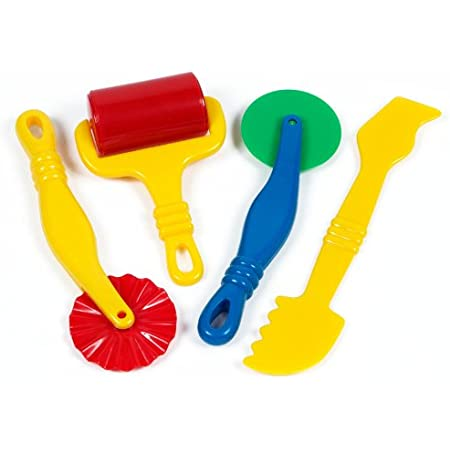Bright Child Friendly Play Doh Dough Shapers Knives 4 Giotto Modelling Tools