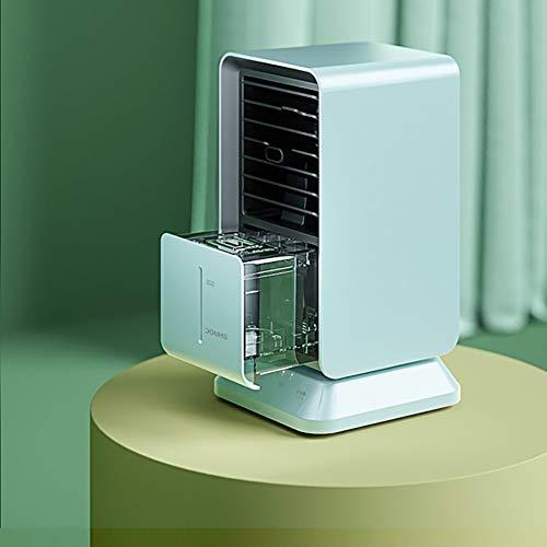 Tragbarer Lüfter der Klimaanlage, Luftkühler, Tischventilator Verdunstungskühler Nebel Luftbefeuchter Luftzirkulator mit 2H / 4H / 6H Timer, perfekt für Schlafzimmer, Büro, Zuhause