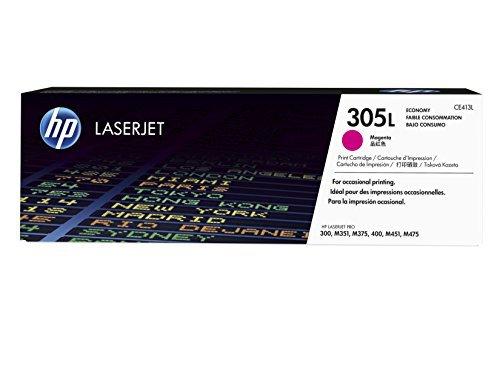 HP CE413L–305L–economía–Magenta–original–LaserJet–cartucho de tóner (CE413L)–para LaserJet Pro 300, 400, 400M451dn, 400M451dw, 400M451nw