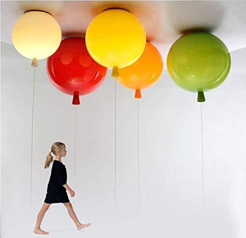 DEJ Licht Acryl Plafond Licht Heldere Plafond Limelight Ballon Vorm Verlichting Plafond Lampen Moderne Kinderkamer Hanglampen E27 Lampenkap in Kleuren (Rood)