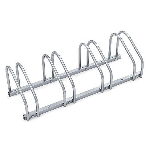 Râtelier pour 4 vélos métal laqué support de rangement métal pneu de 35 à 60mm range-vélos support rangement vélo VTT enfants BMX