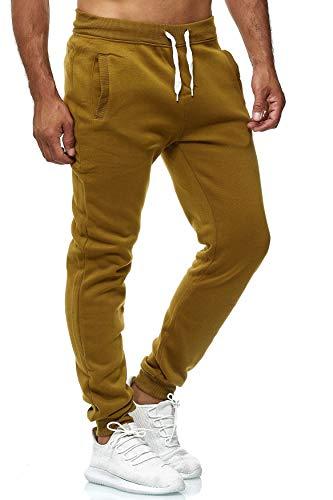 EGOMAXX Herren Jogging Hose Fit & Home Sweat Pants leichte Sporthose Vers.1, Farben:Olive, Größe Hosen:M
