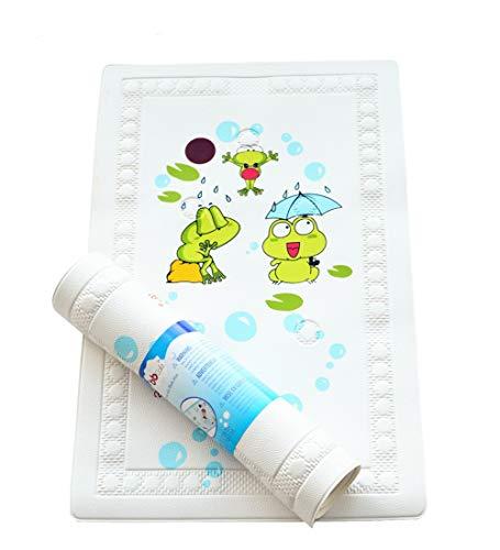 BBCare Tapis de bain antidérapant pour bébé avec Témoin de Température - Grenouille_Verte (40*70cm)