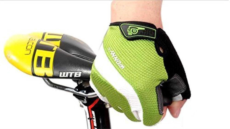 Mountain Bike Reithandschuhe Half Finger Handschuhe für Damen und Herren Rutschfest Atmungsaktiv Polsterung Sommer Fahrrad Handschuhe