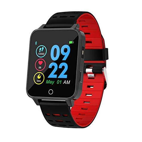 HiIi Smartwatch Smart Watch, Heart Rate Monitor Oxygen Blood Pressure Wrist Watch Bluetooth Running Activity Fitness Tracker Sport Wristband Mother's Day Best Gift,Red