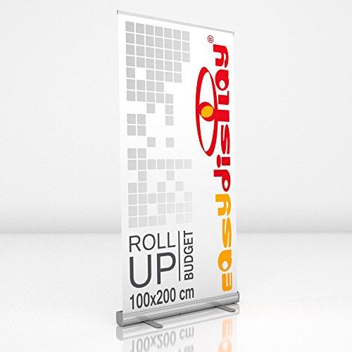 Roll Up Display 100x200cm inkl. Druck, Werbeaufsteller RollUp Budget, Displaybanner