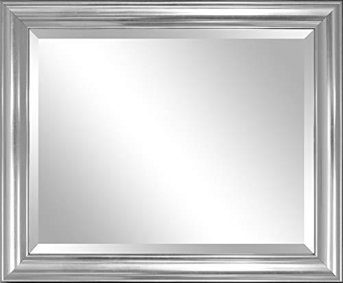 Alpine Art & Mirror Etched Silver Wall Mirror Accent Spiegel, Kunstharz, Silber