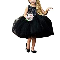 Black Toddlers Sequin Tutu Dress