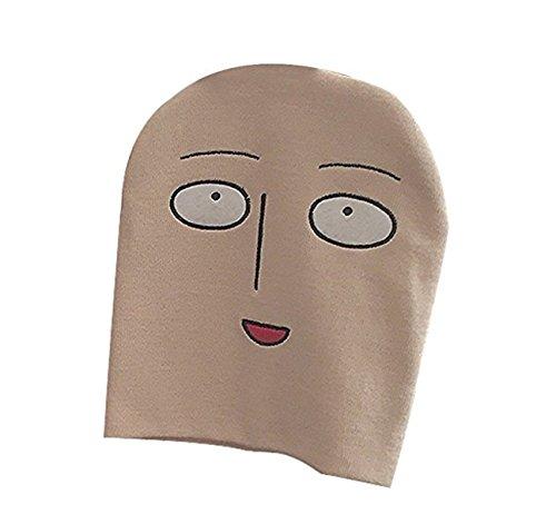 JapanAnimeCosplayExcellent JpCosZone OnePunchMan Saitama Lustige Gesicht Strickmütze Onepunman Beanie Mütze für Unisex-Erwachsene Beige, Medium