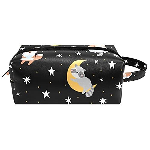 Bolsas de cosméticos de viaje portátiles, bolsa de cepillo con asa de transporte, estrella de mar de mar, concha de mar, bolsa de aseo impermeable, organizador de accesorios para mujeres y niñas