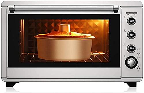 ZJDM Mini Horno electrónico 60L Temperatura controlable 28-230 ℃ y 120 Minutos Temporizador Multifuncional para el hogar Aire Caliente / 360;Horquilla giratoria para Asar/Descongelación por fe