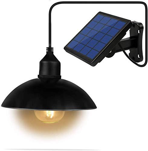 Lixada Solar Pendelleuchte E27 Außenleuchte Sensitive Light IP65 Wasserbeständigkeit für Garten Hof Terrasse Balkon (1)