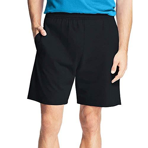 Hanes Men's Jersey Pocket Short Black