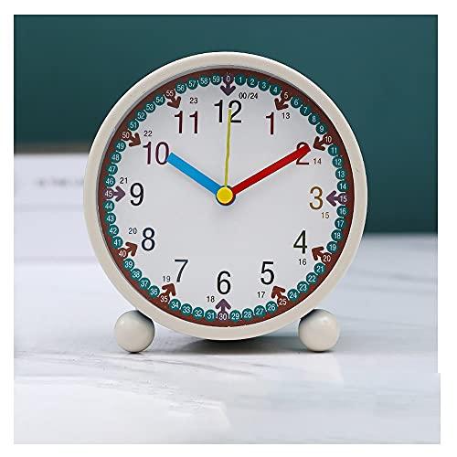 Reloj Despertador Analógico Silencioso Sin Ruido, Adecuado para Niños, Niñas Y Niños, Reloj Despertador Digital para Niños Anticaída Y Duradero (Color : Red)
