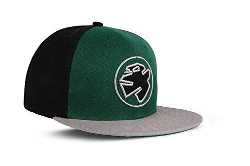RebelbyNature RC1 - Snapback Cap Logo Mütze Unisex Kappe Hat Sport Baseball 100% Acryl - Collection No1-6Panel ORIGINAL Rebel (Matrix-Green)