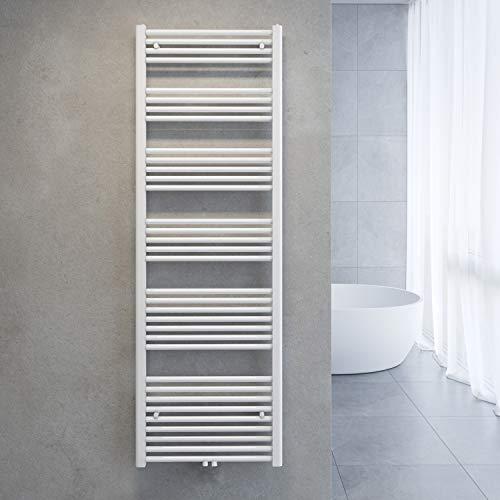 SONNI Handtuchtrockner Heizkörper Bad Mittelanschluss Handtuchwärmer Badheizkörper Weiß Gerade 60 * 180cm