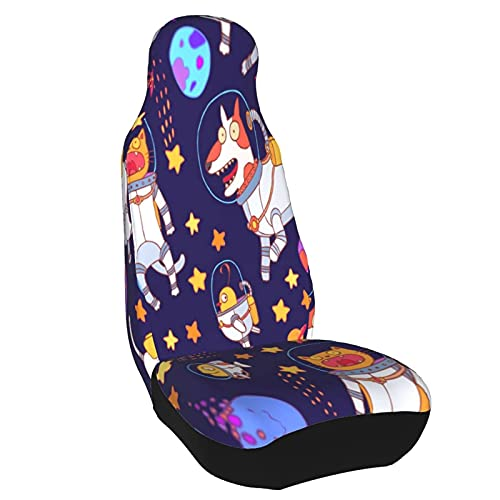 Lewiuzr Car Seat Cover, Planet Stars Cute Dogs Cats Fish Birds Astronomy...