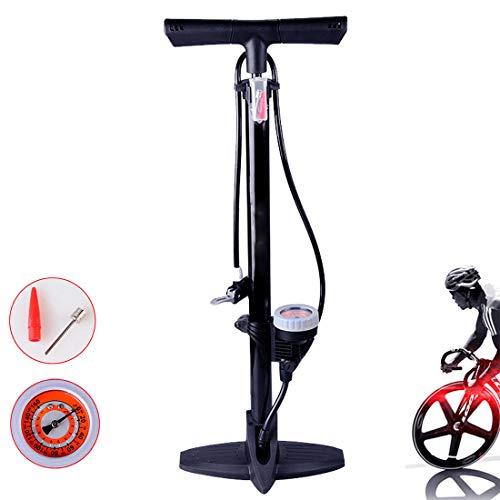 Pompa per bicicletta, pompa pneumatica per gonfiare il pavimento, 160 psi, con manometro, testa valvola intelligente, per bici da strada, mountain bike, moto