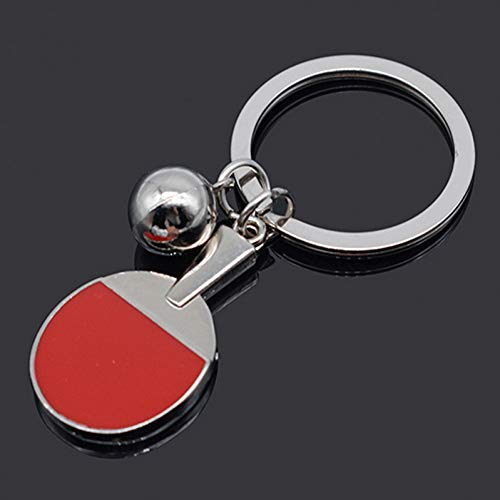 YCEOT Sport Ping Pong Tafel Sleutelhanger Tennis Bal Badminton Bowling Bal Sleutelhanger Sleutelhanger Sleutelhanger Ring Souvenir Gift
