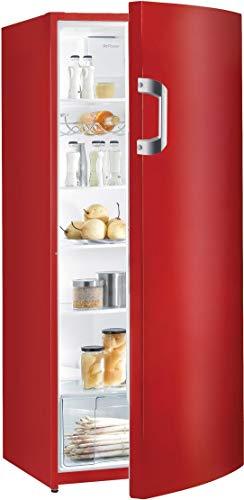 Gorenje R6152BRD Kühlschrank / A++ / Höhe 145 cm / Kühlen: 302 L / Feuerrot / Umluft-Kühlsystem / 5 Glasabstellflächen