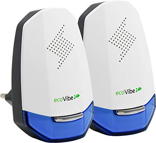 ecoVibe™ ITA - Ultrasuoni per Topi Professionale 2021 - Original M.U.V Tecnology - Ideale Contro Zanzare Topi Cimici e Scarafaggi - L'Originale Dissuasore Ultrasuoni - 2 Pack