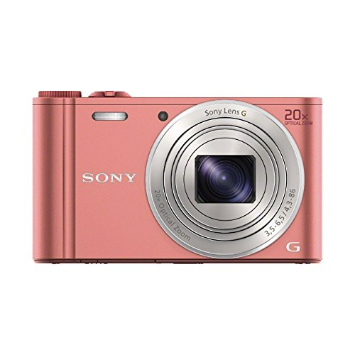 Sony DSC-WX350 - Cámara compacta de 18.2 Mp (pantalla de 3', zoom óptico 20x, estabilizador, vídeo Full HD), rosado