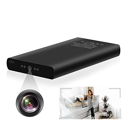 Hidden Camera 1080p 10000mAh Power Bank Camera Long Time Recording Spy Camera Nanny Cam No WiFi with Motion Detection, Night Vision, Gravity Sensor for Home Security