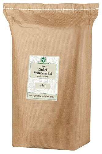 Chiemgaukorn Bio Dinkelgrieß Vollkorn 5 kg, Urdinkel