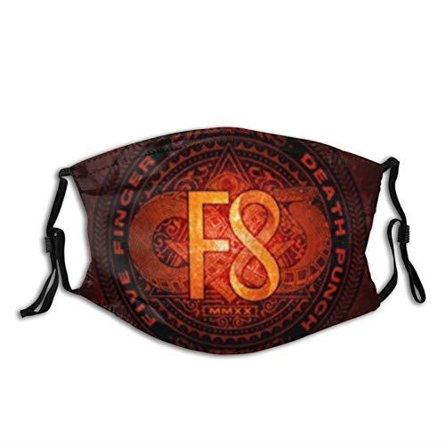 Cinco dedos Muerte Punch 3 cómodas máscaras faciales a prueba de sol bandana para la cabeza para la pesca, máscara de esquí, gorro, polaina para el cuello para mujeres y hombres con 2 filtros