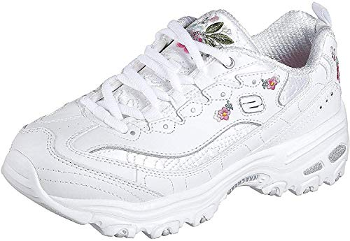 Skechers Damen D'Lites Bright Blossoms 11977-W Sneaker, Weiß (White 11977-Wht), 38 EU