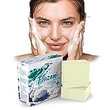 Savon au lait de chevre, masque acne visage, savon sel de mer, sea salt soap, enleve point noir. Efficace contre psoriasis traitement acne et eczéma visage et main, naturel desincrustant et exfoliant