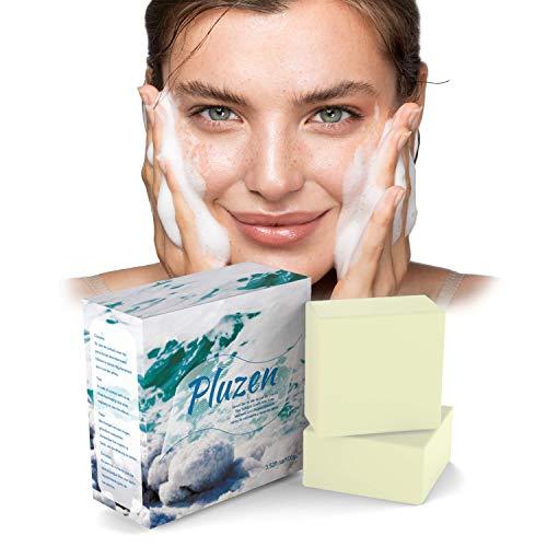Savon sel de mer au lait de chevre, sea salt soap enleve point noir. Efficace contre psoriasis traitement acne et eczéma visage et main, naturel desincrustant et exfoliant main et hydratant corps.