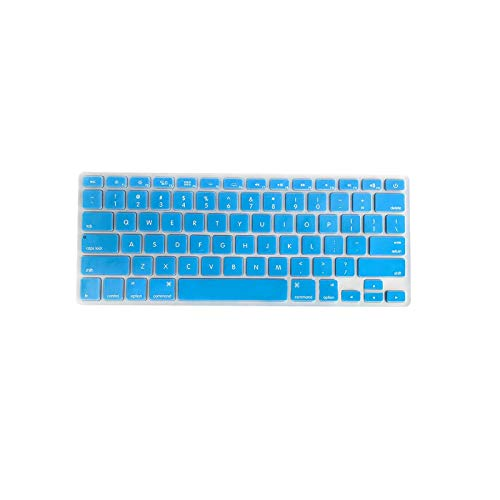 Colorful TPU Keyboard Cover Dustproof Keyboard Protective Film for MacBook Air 13.3 inch A1466/A1369-Dark blue