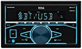 BOSS Audio Systems Elite 480BRGB Double Din, Bluetooth, MP3 USB AM FM Receiver, Multi Color RGB Illumination, Wireless Remote - no CD DVD player,
