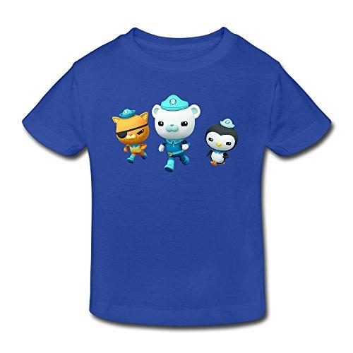 Toddler's 100% Cotton The Octonauts Cool T-Shirt RoyalBlue US Size 5-6 Toddler