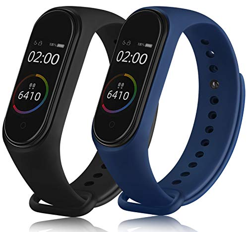 Senka 2 Pack Correas Compatible con Xiaomi Mi Band 4 Xiaomi