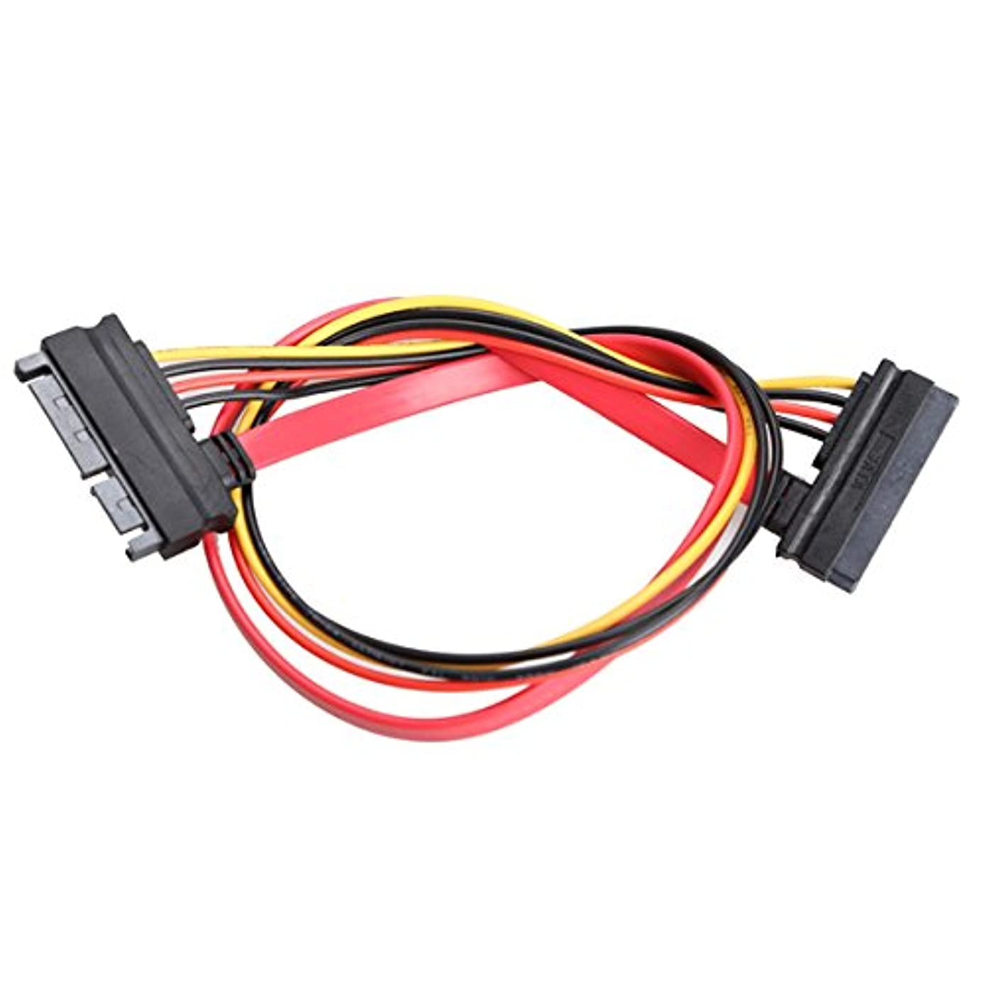 22 Pin Male to Female 7+15 pin SATA Data Power Combo Extension Cable 45CM Computers Accessories