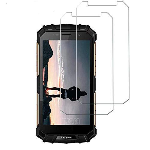 MSOSA Compatible con Protector de Pantalla Doogee S60 Lite, [2-Pack] [Anti-Burbujas] [9H Dureza] [Fácil Instalación] HD Cristal Templado para Doogee S60 Lite
