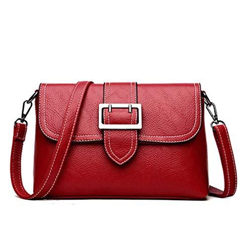 Borse a tracolla per borse da donna in pelle PU Red 25cm9cm17cm