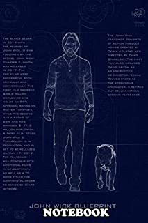 Notebook: John Wick With His Dog Blueprint Effects , Journal for Writing, College Ruled Size 6
