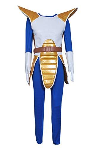 XOMO Dragon Ball Z Cosplay Gogeta Costume Vest Jumpsuit Full Set XL Blue
