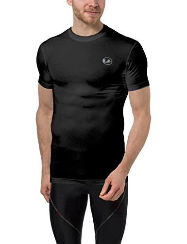 Ultrasport Herren Kompressions T-Shirt Ben, Schwarz, S