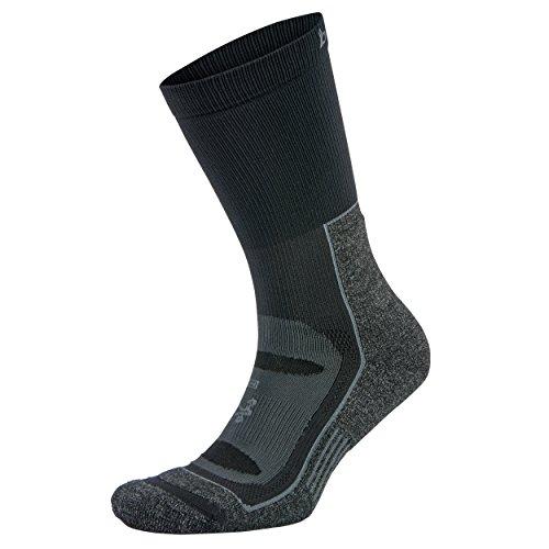 Balega Blister Resist Crew Socks for Men and Women (1 Pair), Black, Small