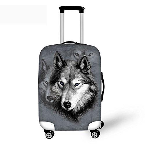 Coloranimal Cool 3D Husky Print fundas de equipaje de viaje para maleta elástica de 18 a 30 pulgadas