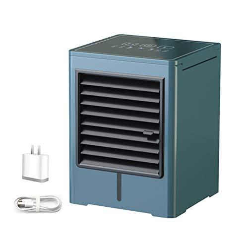 Mini refrigerador de Espacio, Ventilador de Aire Acondicionado de Escritorio, 3 velocidades de Viento, tecnología de Tanque de Agua Limpia, Muy Adecuado para mesita de Noche de Dormitorio de Oficina