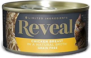 Reveal - Grain Free | Wet Canned Cat Food | 2.47oz - 24 Pack - Premium Nutrition, 100% Natural, No Additives, and Limited Ingredients (Chicken Breast)