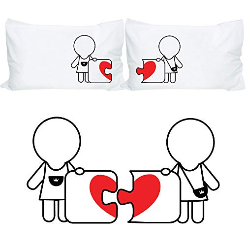 BoldLoft Made for Each Other Lesbian Couple Pillowcases- Lesbian Couple Gifts, Lesbian Gifts for Girlfriend, Lesbian Wedding Gifts, Hers and Hers Gifts Valentines Day Anniversary